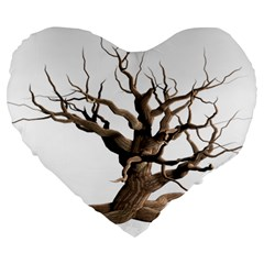 Tree Isolated Dead Plant Weathered Large 19  Premium Heart Shape Cushions by Nexatart