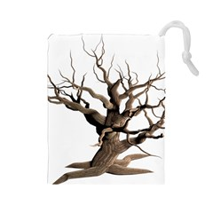 Tree Isolated Dead Plant Weathered Drawstring Pouches (large)