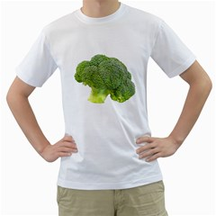 Broccoli Bunch Floret Fresh Food Men s T Shirt (white) (two Sided)