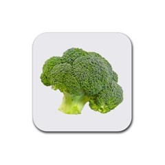 Broccoli Bunch Floret Fresh Food Rubber Square Coaster (4 Pack)