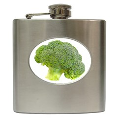 Broccoli Bunch Floret Fresh Food Hip Flask (6 Oz)