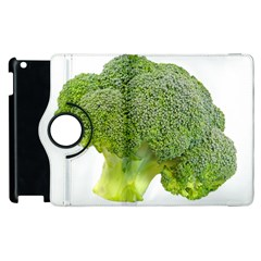 Broccoli Bunch Floret Fresh Food Apple Ipad 3/4 Flip 360 Case by Nexatart