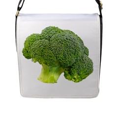 Broccoli Bunch Floret Fresh Food Flap Messenger Bag (l)  by Nexatart