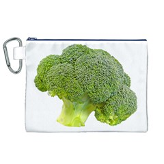 Broccoli Bunch Floret Fresh Food Canvas Cosmetic Bag (xl) by Nexatart