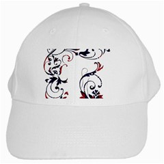 Scroll Border Swirls Abstract White Cap