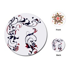 Scroll Border Swirls Abstract Playing Cards (round)  by Nexatart