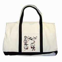 Scroll Border Swirls Abstract Two Tone Tote Bag