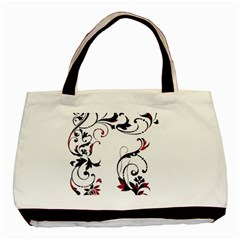 Scroll Border Swirls Abstract Basic Tote Bag (two Sides) by Nexatart