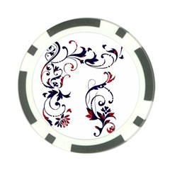 Scroll Border Swirls Abstract Poker Chip Card Guard (10 Pack)