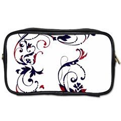 Scroll Border Swirls Abstract Toiletries Bags 2 Side