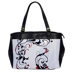 Scroll Border Swirls Abstract Office Handbags by Nexatart