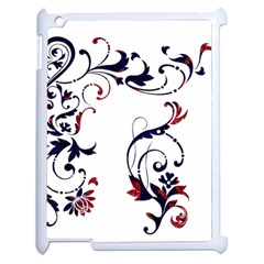 Scroll Border Swirls Abstract Apple Ipad 2 Case (white)