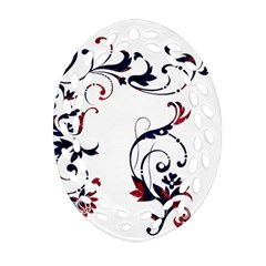 Scroll Border Swirls Abstract Oval Filigree Ornament (two Sides) by Nexatart