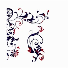 Scroll Border Swirls Abstract Small Garden Flag (two Sides) by Nexatart