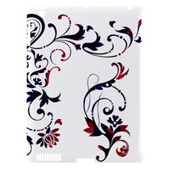 Scroll Border Swirls Abstract Apple Ipad 3/4 Hardshell Case (compatible With Smart Cover) by Nexatart
