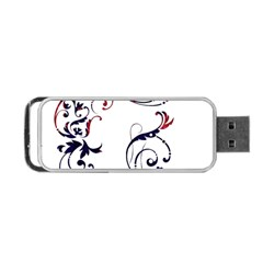 Scroll Border Swirls Abstract Portable Usb Flash (one Side) by Nexatart