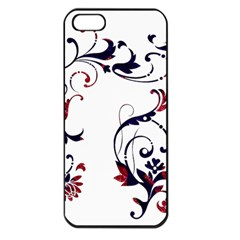Scroll Border Swirls Abstract Apple Iphone 5 Seamless Case (black) by Nexatart