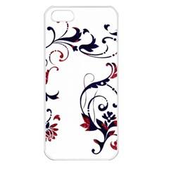 Scroll Border Swirls Abstract Apple Iphone 5 Seamless Case (white) by Nexatart
