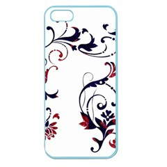 Scroll Border Swirls Abstract Apple Seamless Iphone 5 Case (color) by Nexatart