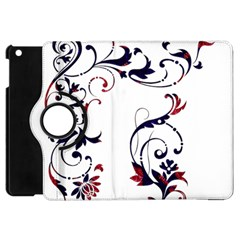Scroll Border Swirls Abstract Apple Ipad Mini Flip 360 Case by Nexatart