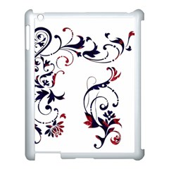 Scroll Border Swirls Abstract Apple Ipad 3/4 Case (white)