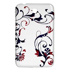 Scroll Border Swirls Abstract Samsung Galaxy Tab 3 (7 ) P3200 Hardshell Case  by Nexatart