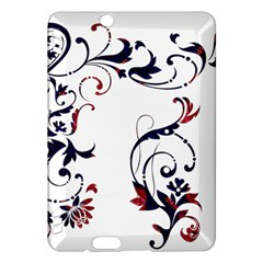 Scroll Border Swirls Abstract Kindle Fire Hdx Hardshell Case by Nexatart