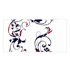 Scroll Border Swirls Abstract Satin Shawl by Nexatart
