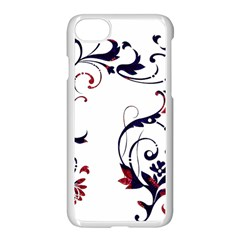Scroll Border Swirls Abstract Apple Iphone 7 Seamless Case (white)