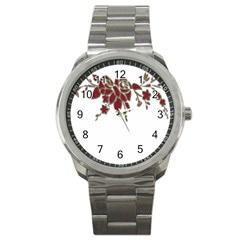 Scrapbook Element Nature Flowers Sport Metal Watch by Nexatart