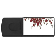 Scrapbook Element Nature Flowers Usb Flash Drive Rectangular (4 Gb) by Nexatart