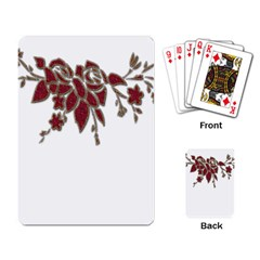Scrapbook Element Nature Flowers Playing Card by Nexatart