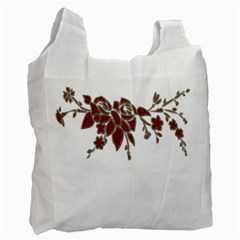 Scrapbook Element Nature Flowers Recycle Bag (two Side)  by Nexatart