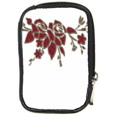 Scrapbook Element Nature Flowers Compact Camera Cases