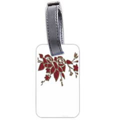 Scrapbook Element Nature Flowers Luggage Tags (one Side)  by Nexatart