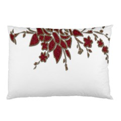 Scrapbook Element Nature Flowers Pillow Case (two Sides)