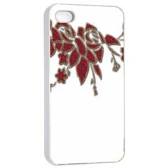 Scrapbook Element Nature Flowers Apple Iphone 4/4s Seamless Case (white) by Nexatart