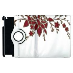 Scrapbook Element Nature Flowers Apple Ipad 3/4 Flip 360 Case by Nexatart