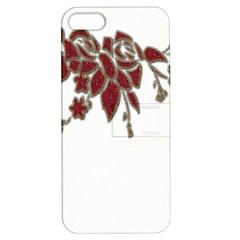 Scrapbook Element Nature Flowers Apple Iphone 5 Hardshell Case With Stand