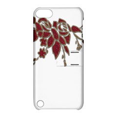 Scrapbook Element Nature Flowers Apple Ipod Touch 5 Hardshell Case With Stand