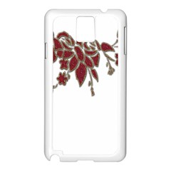 Scrapbook Element Nature Flowers Samsung Galaxy Note 3 N9005 Case (white) by Nexatart
