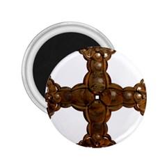 Cross Golden Cross Design 3d 2 25  Magnets by Nexatart