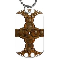 Cross Golden Cross Design 3d Dog Tag (two Sides)
