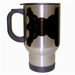 Cross Golden Cross Design 3d Travel Mug (silver Gray) by Nexatart