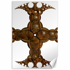 Cross Golden Cross Design 3d Canvas 20  X 30   by Nexatart