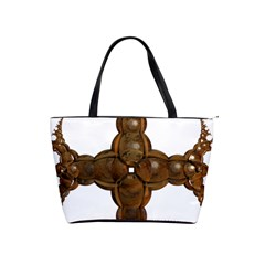 Cross Golden Cross Design 3d Shoulder Handbags by Nexatart