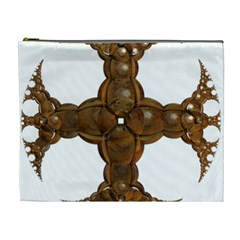 Cross Golden Cross Design 3d Cosmetic Bag (xl)