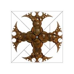 Cross Golden Cross Design 3d Acrylic Tangram Puzzle (4  x 4 ) by Nexatart