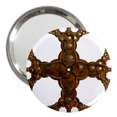 Cross Golden Cross Design 3d 3  Handbag Mirrors