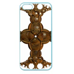 Cross Golden Cross Design 3d Apple Seamless Iphone 5 Case (color)